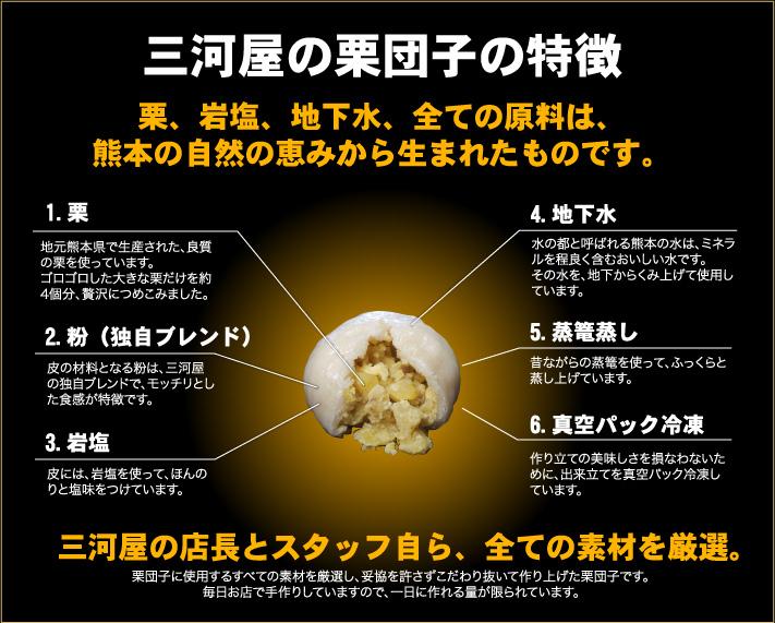 三河屋の栗団子の特徴